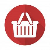 pic of cart  - cart red flat icon shopping cart symbol