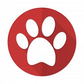 stock photo of flat-foot  - foot red flat icon 