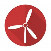 image of windmills  - windmill red flat icon renewable energy sign - JPG