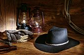 American West Rodeo Cowboy Hat Still Life