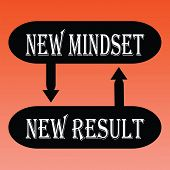 picture of idealistic  - vector illustration of new mindset for new result - JPG