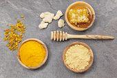 stock photo of honeycomb  - Ginger powder - JPG