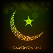 foto of ramadan mubarak  - illustration of a shiny moon for Ramadan Mubarak - JPG