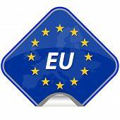 stock photo of patriot  - Europe Patriotic Blue Luxembourg Patriot Republic Union Hungary Language Portugal - JPG