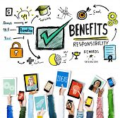 pic of responsible  - Benefits Responsibility Rewards Goal Skill Satisfaction Concept - JPG