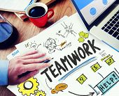 stock photo of collaboration  - Teamwork Team Together Collaboration Working Office Workplace Concept - JPG