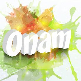 pic of onam festival  - illustration of a stylish text for Happy Onam - JPG