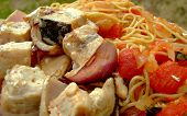 Grilled Swordfish Kabobs And Pasta Provencal