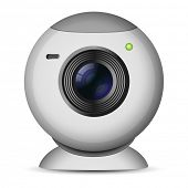 Vector illustration of web camera