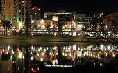 Torrens Riverbank At Night