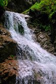 Beautiful Waterfall In Slovak Paradise Europe poster