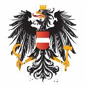austria coat of arms vector