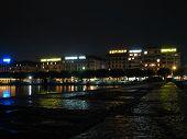 Постер, плакат: Швейцария Cityscape ночью на Женевское озеро 3
