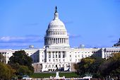 image of lobbyist  - US capitol building on a sunny winter day - JPG