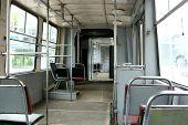 empty tram interior