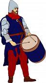 Vector - un histórico baterista tocando el tambor
