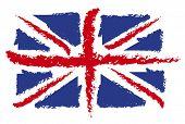 Ilustração da bandeira do Reino Unido