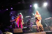 LOULE, PORTUGAL - JUNE 25: Ojos de Brujo performs onstage at Festival Med June 25, 2009 in Loule, Po