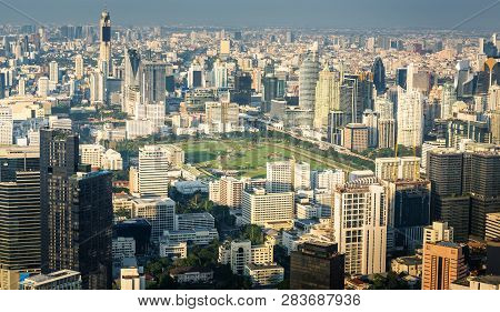 Cityscape Of Bangkok City And