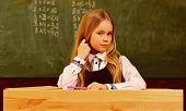 Math Lesson. Small Kid At Math Lesson. Math Lesson For Cute Child. Math Lesson At Modern School. Con poster