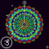 picture of ohm  - Mandala Ohm design - JPG