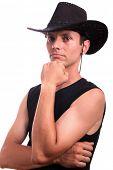 sexy cowboy man