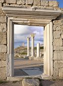 Ruins Of Ancient Greek Basilica At Chersonesus In Crimea