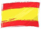 Grunge Spain flag