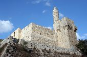 The Tower of David is an ancient citadel located near the Jaffa Gate entrance to the Old City of Jer