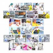 pharmazeutische Industrie collage