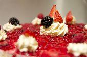 Luxury Dessert With Fresh Fruits Close Up