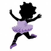 image of carron  - Little african american ballerina girl on a white background - JPG