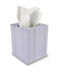 image of tissue box  - single box of tissue paper on white background - JPG