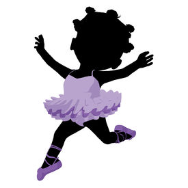 stock photo of carron  - Little african american ballerina girl on a white background - JPG