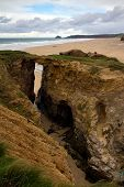 Perranporth in North Cornwall England UK near Newquay