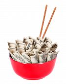 stock photo of bartering  - Concept image of food money  - JPG