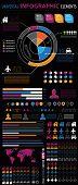 Universal infographics set. World Map Information Graphics and Presentation.