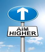 Aim Higher Concept.