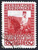 Postage stamp Austria 1908 Franz Josef on Horseback, Emperor of Austria