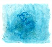 Blue Painting Texture With Splash