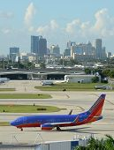 Southwest Airlines Jet Airplane In Fort Lauderdale