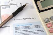 Formulario de solicitud de préstamo para la vivienda