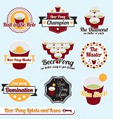 Vector Set: Beer Pong Champion Labels