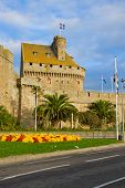Defensive walls of the city of St. Malo, France