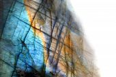 stock photo of labradorite  - labradorite mineral as very nice natural background - JPG