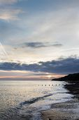 Sunset At The Beach At Cromer Norfolk, East Anglia