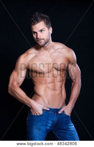 Young Muscular Man poster