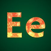 Letter E in the autumn style