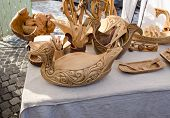 Wooden Kitchen Utensil Tools Bird Dish Market Fair