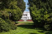 stock photo of bonnes  - View of Hammerschmidt Villa in Bonn Germany - JPG